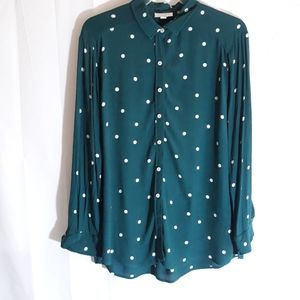 Topshop oversized blouse